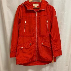 Michael Kors NWT Red Jacket with Gold Accents